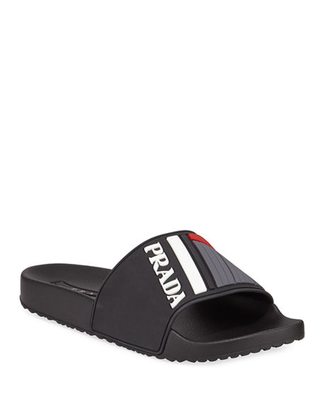 9753df2c8755 Image 1 of 4  Men s Logo Rubber Slide Sandals