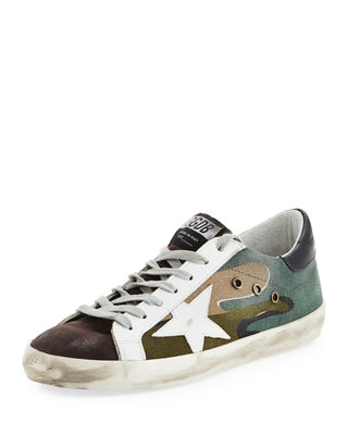 Men's Distressed Superstar Canvas Low-Top Sneaker