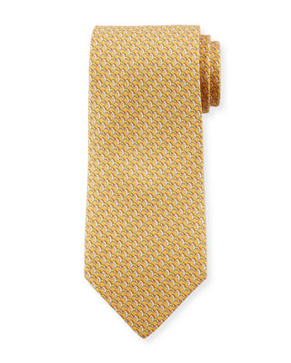 Horses Silk Tie, Yellow