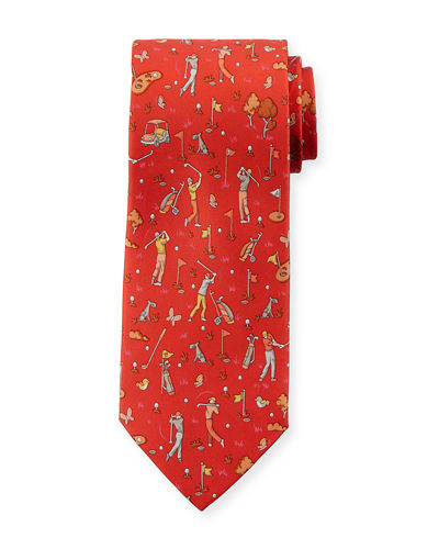 Salvatore Ferragamo Golf Silk Tie