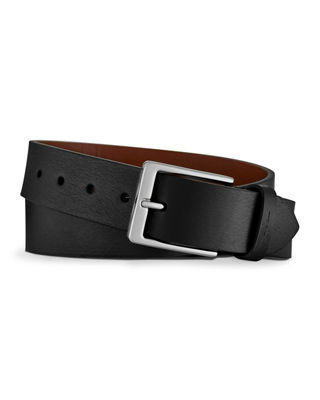 Shinola Men's Lightning Bolt Leather Belt