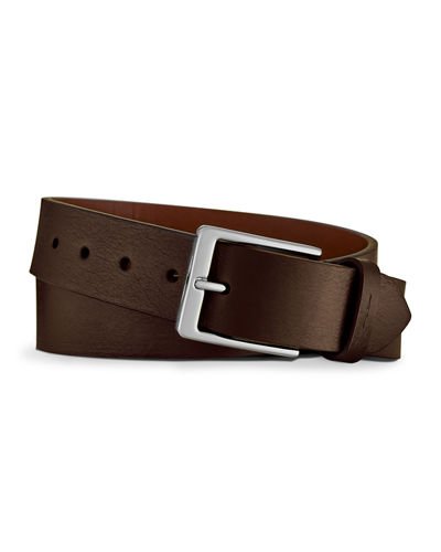 Lightning Bolt Leather Belt