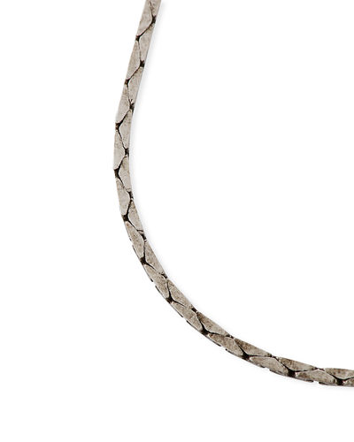 Men's Chain Necklace with Logo Clasp