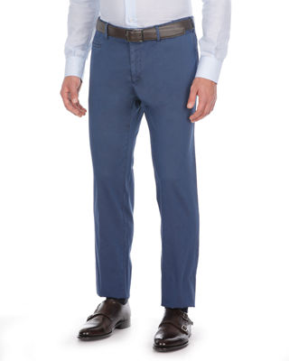 Flat-Front Twill Trousers