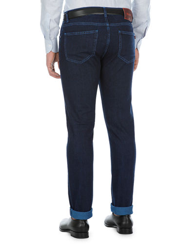 Saturated-Wash Slim-Leg Jeans