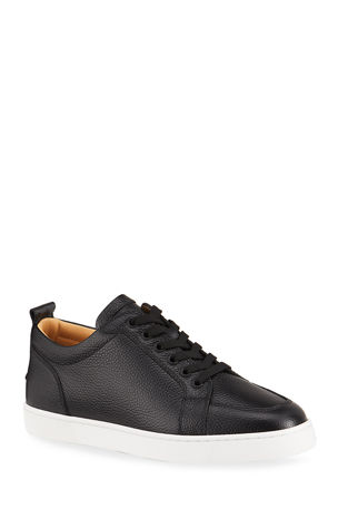 Christian Louboutin Men's Rantulow Leather Low-Top Sneakers