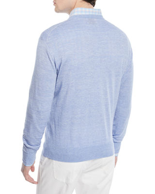 Image 3 of 3: Crown Cool Crewneck Wool-Blend Sweater
