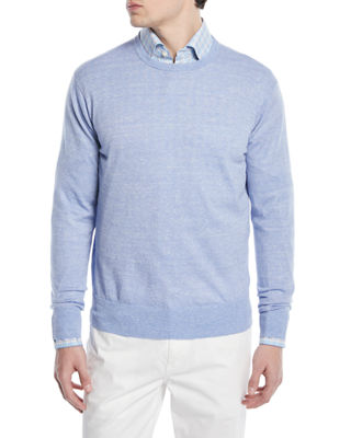 Image 1 of 3: Crown Cool Crewneck Wool-Blend Sweater