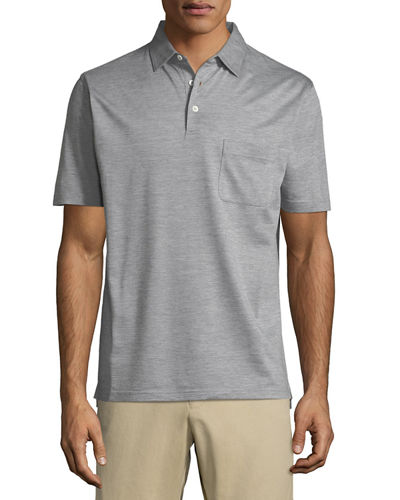 Peter Millar Discovery Silk-Cotton Polo Shirt