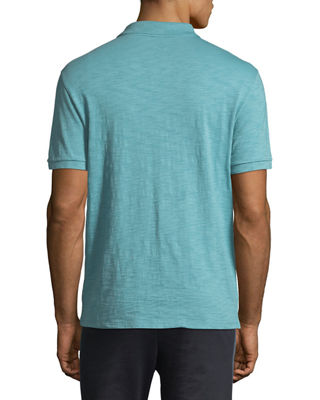 Image 2 of 2: Heathered-Jersey Classic Polo Shirt