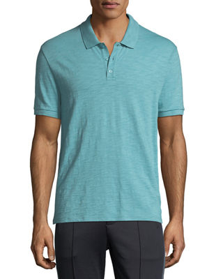 Image 1 of 2: Heathered-Jersey Classic Polo Shirt