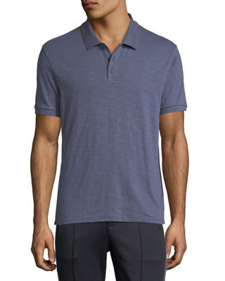 Heathered-Jersey Classic Polo Shirt