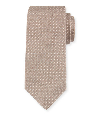 Dot Textured Silk Tie