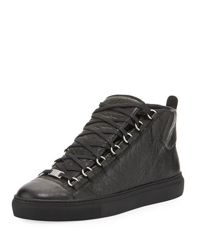 Men's Arena Leather High-Top Sneaker