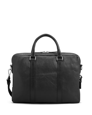 Image 2 of 4: Men's Slim Leather Computer Briefcase