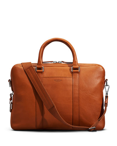 Men's Slim Leather Computer Briefcase