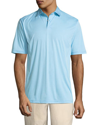 Peter Millar Featherweight Melange-Stripe Polo Shirt