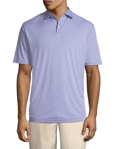 Featherweight Melange-Stripe Polo Shirt