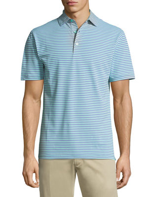 Tygra Striped Jersey Polo Shirt
