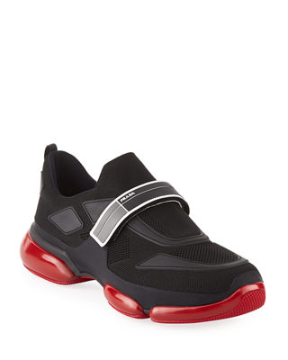 Prada Cloudbust Knit Sport Sneaker with Single Grip-Strap