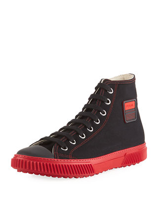 Prada Canapa Canvas High-Top Sneaker and Matching Items