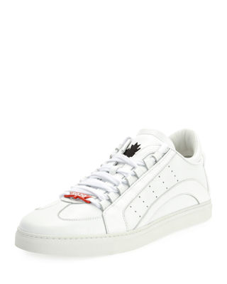 Dsquared2 Stripe Leather Low-Top Sneaker