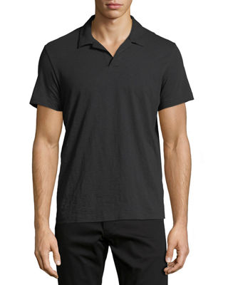 Image 1 of 2: Willem Cosmos Open-Collar Jersey Polo Shirt