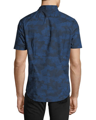 Image 2 of 2: Camouflage-Print Short-Sleeve Sport Shirt