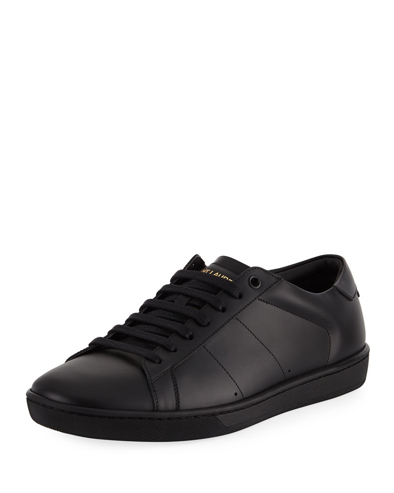Saint Laurent Men's SL01 Leather Low-Top Sneakers