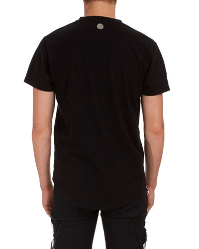 Deep V Cotton T-Shirt