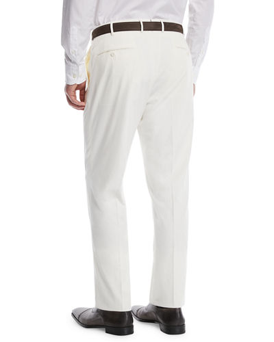 Micky Trim-Fit Cotton/Silk Pants