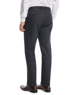 Image 2 of 3: Micky Trim-Fit Cotton/Silk Pants