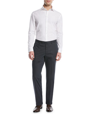 Image 3 of 3: Micky Trim-Fit Cotton/Silk Pants