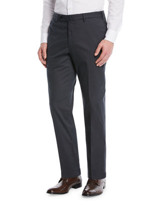 Image 1 of 3: Micky Trim-Fit Cotton/Silk Pants