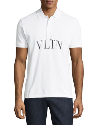 VLTN Logo-Stamped Polo Shirt
