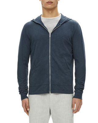 Layer Cosmo Zip-Front Cotton Hoodie