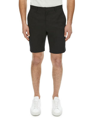 Image 1 of 2: Zaine Urban Stretch-Linen Shorts