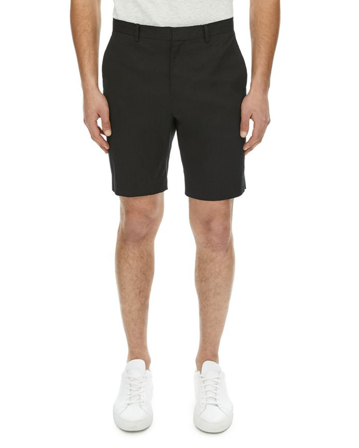 Zaine Urban Stretch-Linen Shorts
