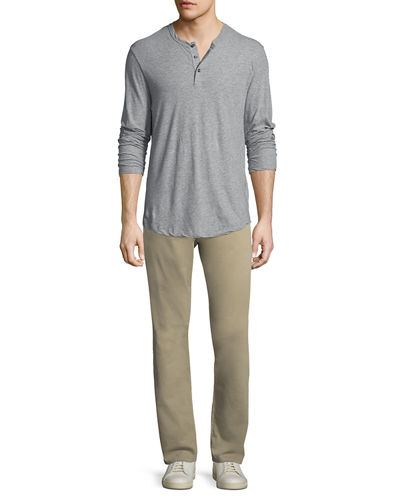 Ives Straight-Leg Twill Pants