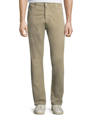 AG Ives Straight-Leg Twill Pants