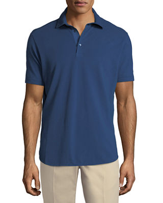 3-Button Cotton Polo Shirt