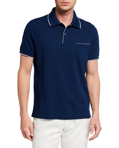 Image 1 of 2: Loro Piana 2-Button Regatta Polo Shirt
