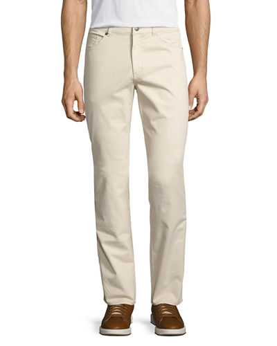 Stretch Five-Pocket Twill Pants