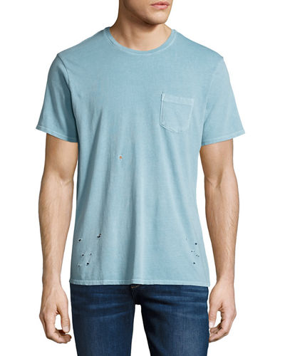 Finley Vintage-Effect Pocket T-Shirt
