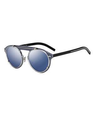 86f450218cfb6 Dior Genes Round Double-Frame Sunglasses