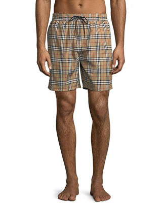 Burberry Guildes Signature-Check Swim Trunks