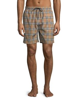baf86ea20d8 Burberry Guildes Signature-Check Swim Trunks