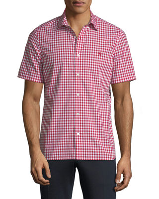 Stopford Gingham Short-Sleeve Sport Shirt