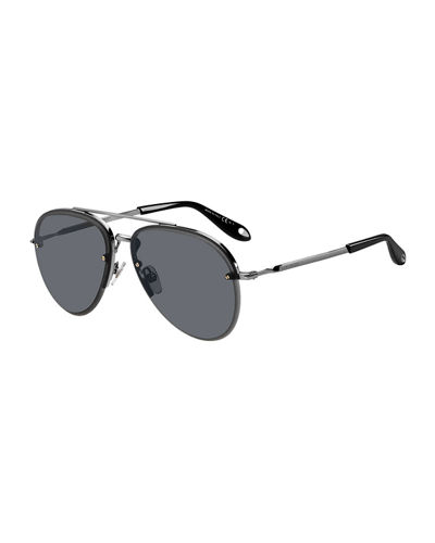 Men's Rimless Aviator Sunglasses
