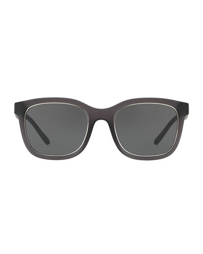 Translucent Propionate Square Sunglasses
